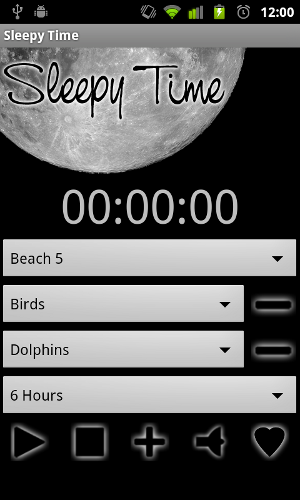 Sleepy Time - Screen shot with three sounds