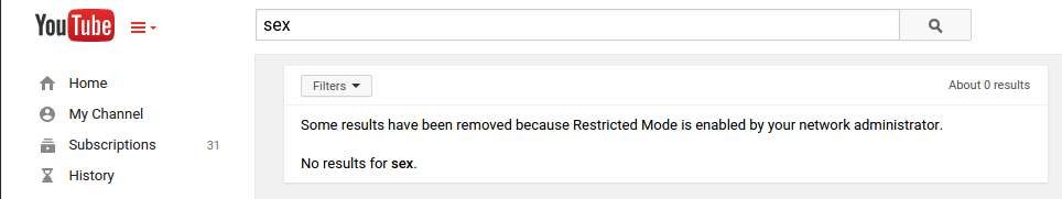 Blocked YouTube