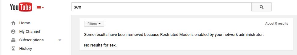 Blocked YouTube